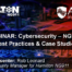 APCO Webinar Cybersecurity NG9-1-1 Best Practices & Case Studiies